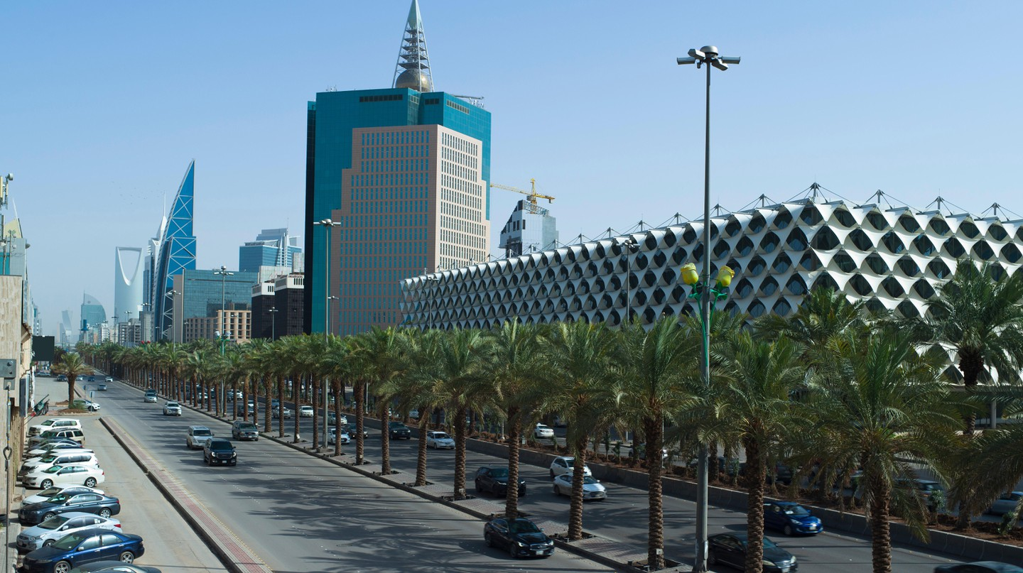 The Burj Rafal, Saudi Arabia's tallest building and home to the Burj Rafal Hotel, is located on King Fahad Road