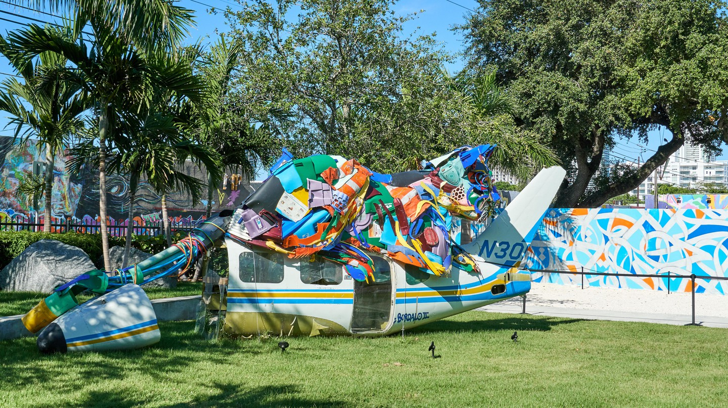 Bordalo II's sculpture forms part of the Wynwood Walls arts landscape