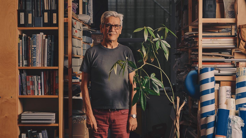 Sunil Gupta in his studio in London
