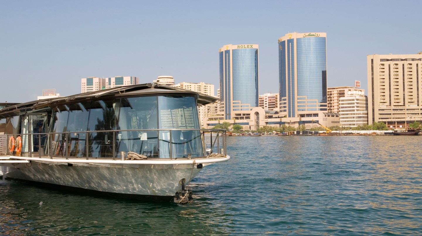 Touring Dubai by boat is a great way to see the city