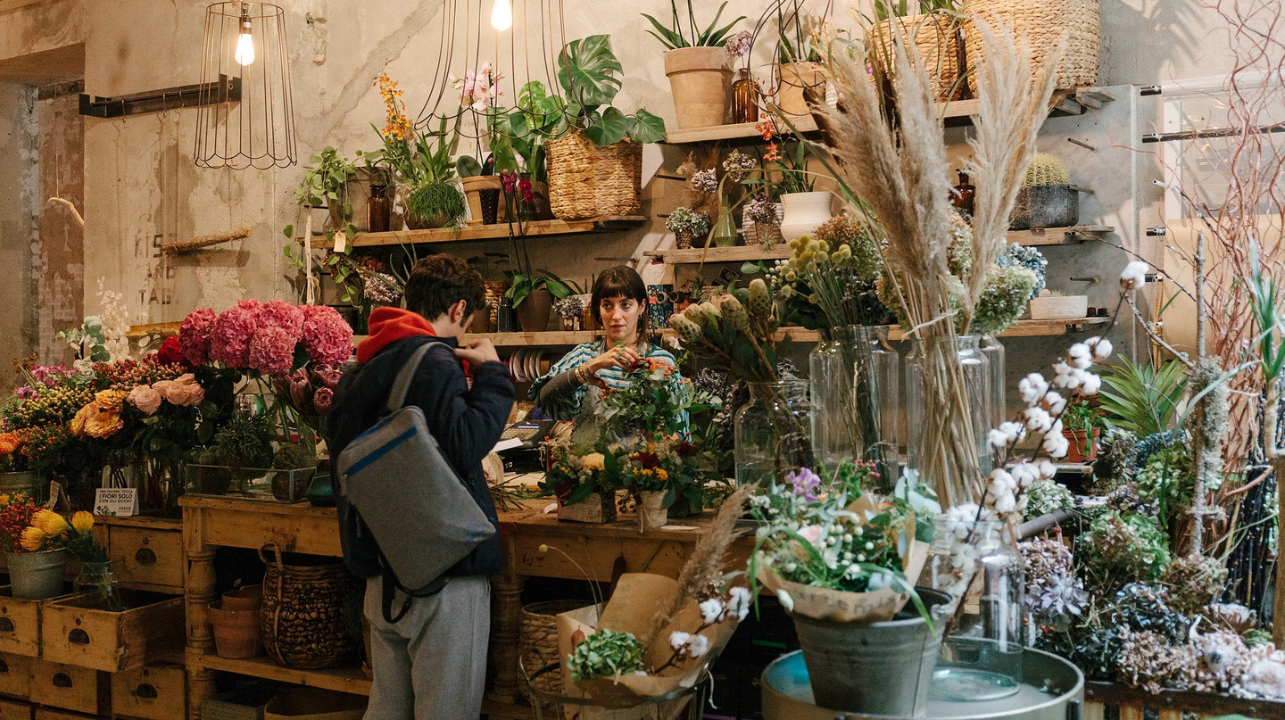 La Ménagère is a multi-use space, complete with a flower shop