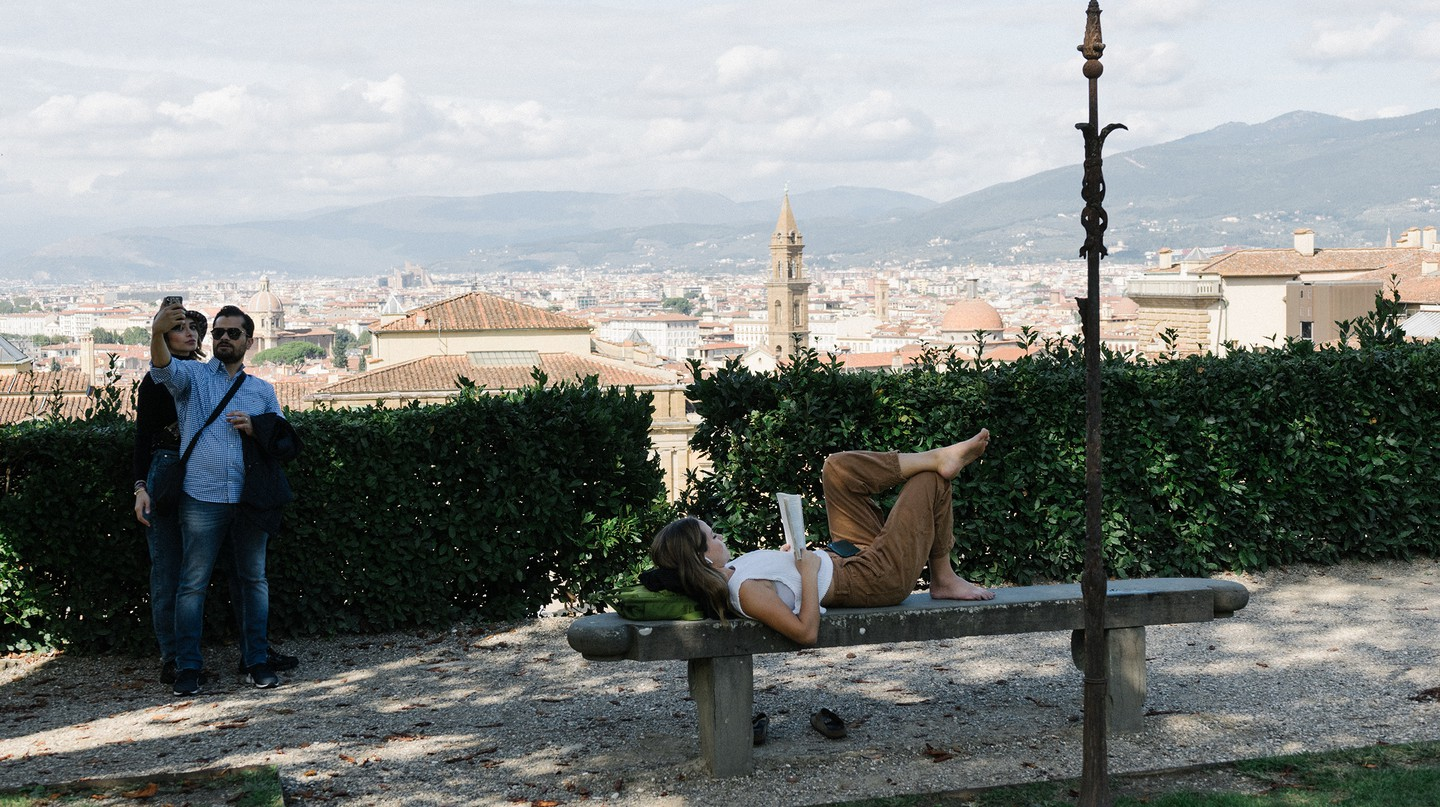Relax and enjoy the view at the Boboli Gardens in Borgo Santo Spirito
