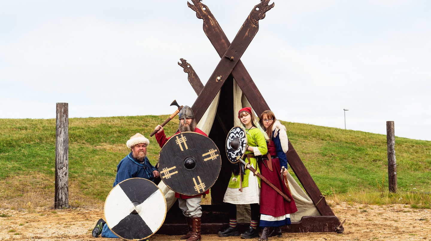 The Einherjar Viking group gathers to share their interest in the Viking era
