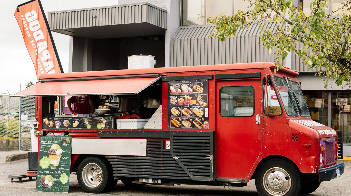 The Japadog food truck rolls throughout Vancouver, offering a Japanese take on a Western staple