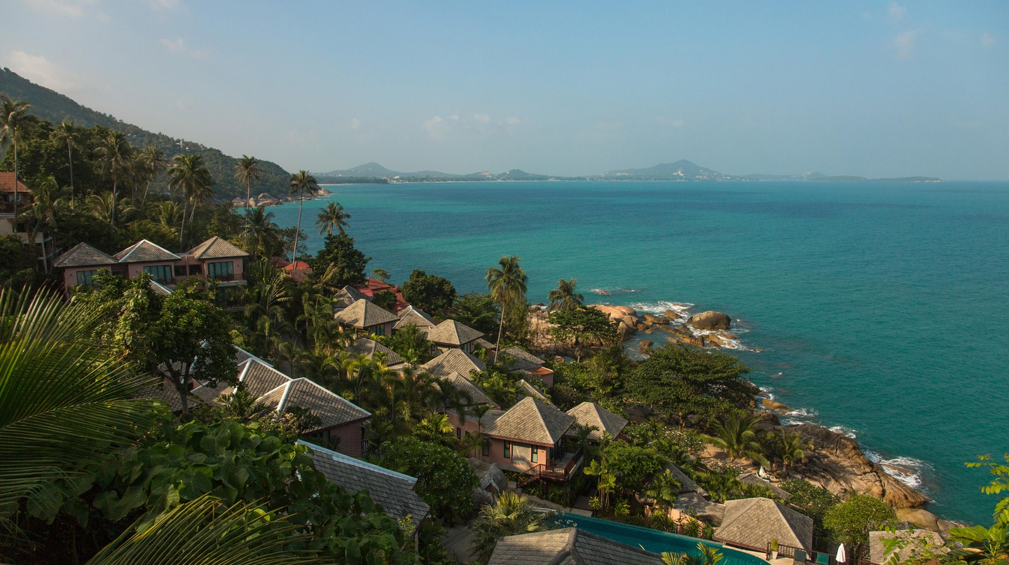 Many hotels on Koh Samui are perched along the picturesque coastline
