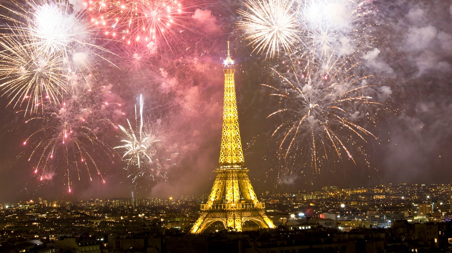 Celebrate New Year's Eve in Paris to see the sky lit up with fireworks around the Eiffel Tower