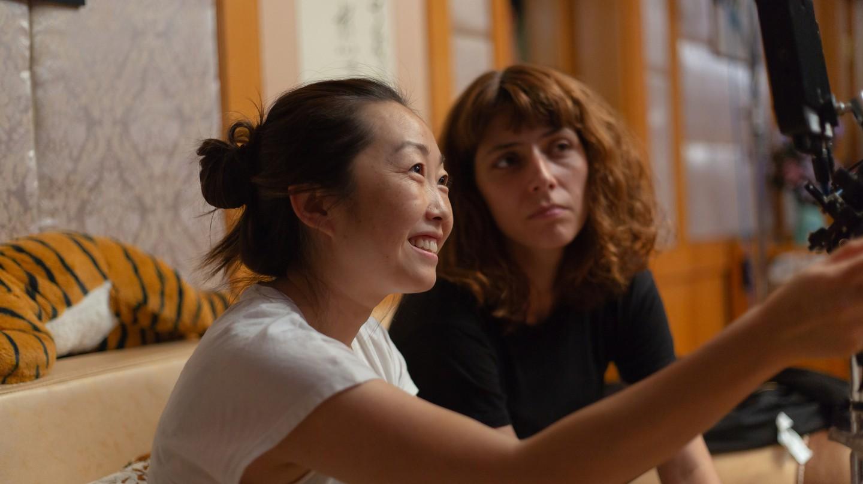 Lulu Wang on the set of 'The Farewell'