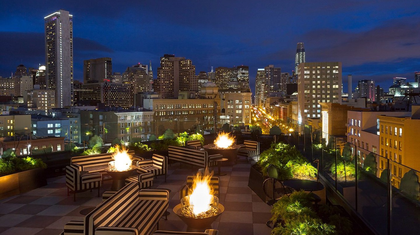 Charmaine's bar at Proper Hotel San Francisco is arguably the best rooftop spot in the city