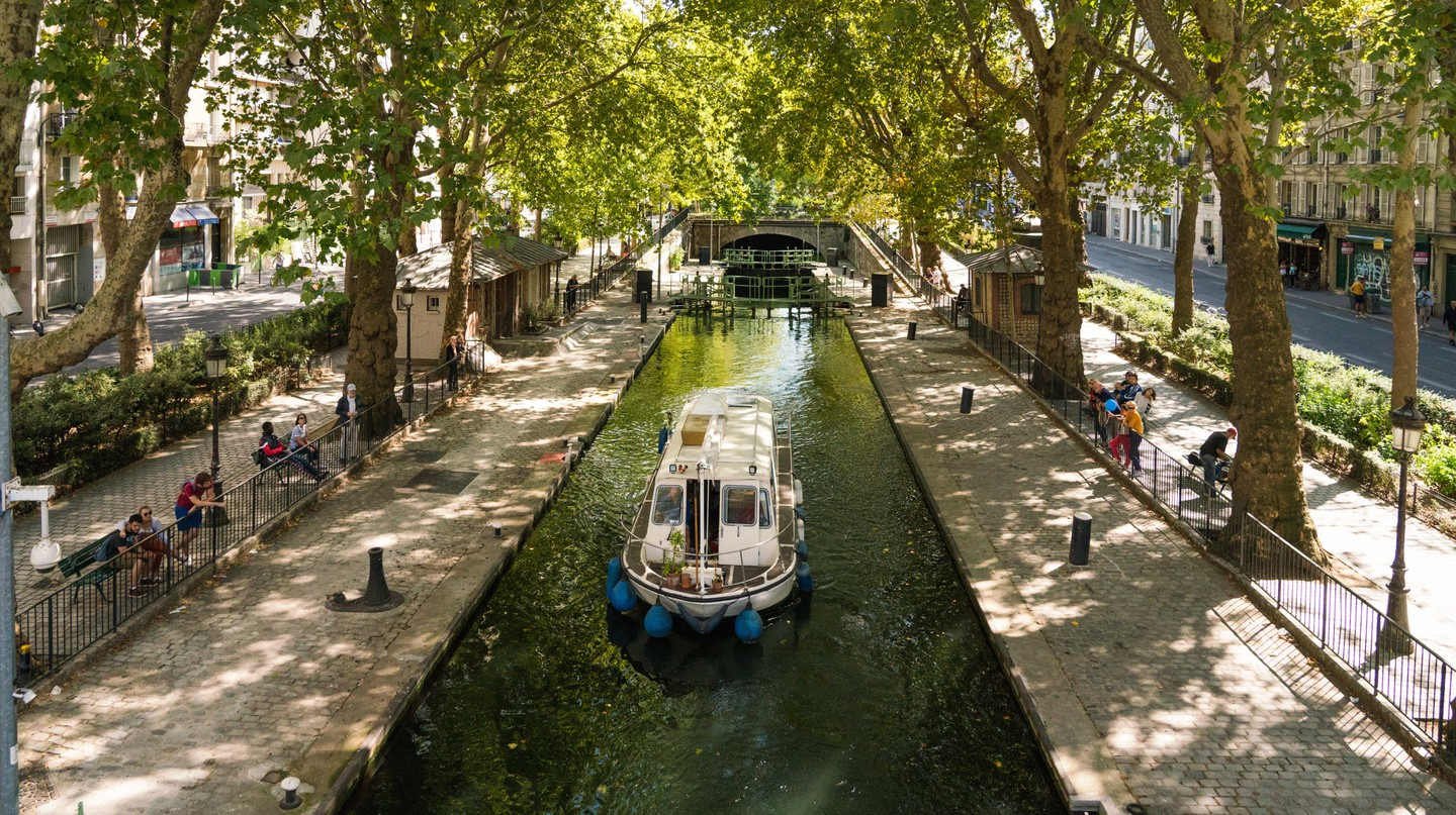 The Canal Saint-Martin is close to Paris's Place de la République