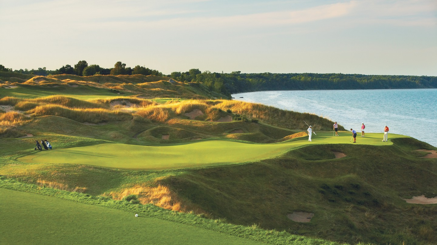 Whistling Straits comprises The Straits and The Irish
