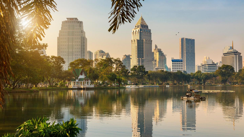 Sunrise on Lumpini Park, Bangkok