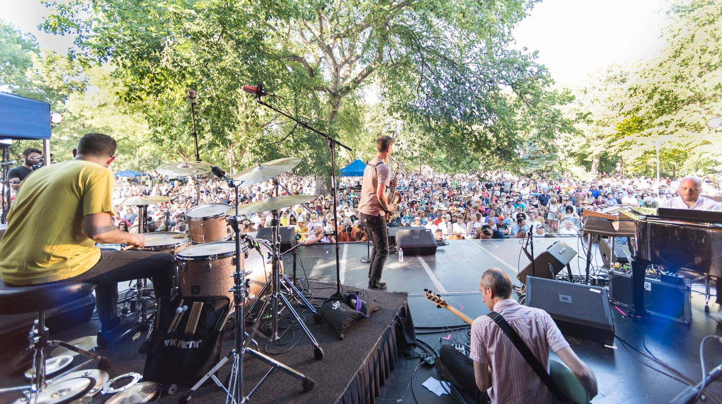 The Charlie Parker Jazz Festival takes place in Tompkins Square Park