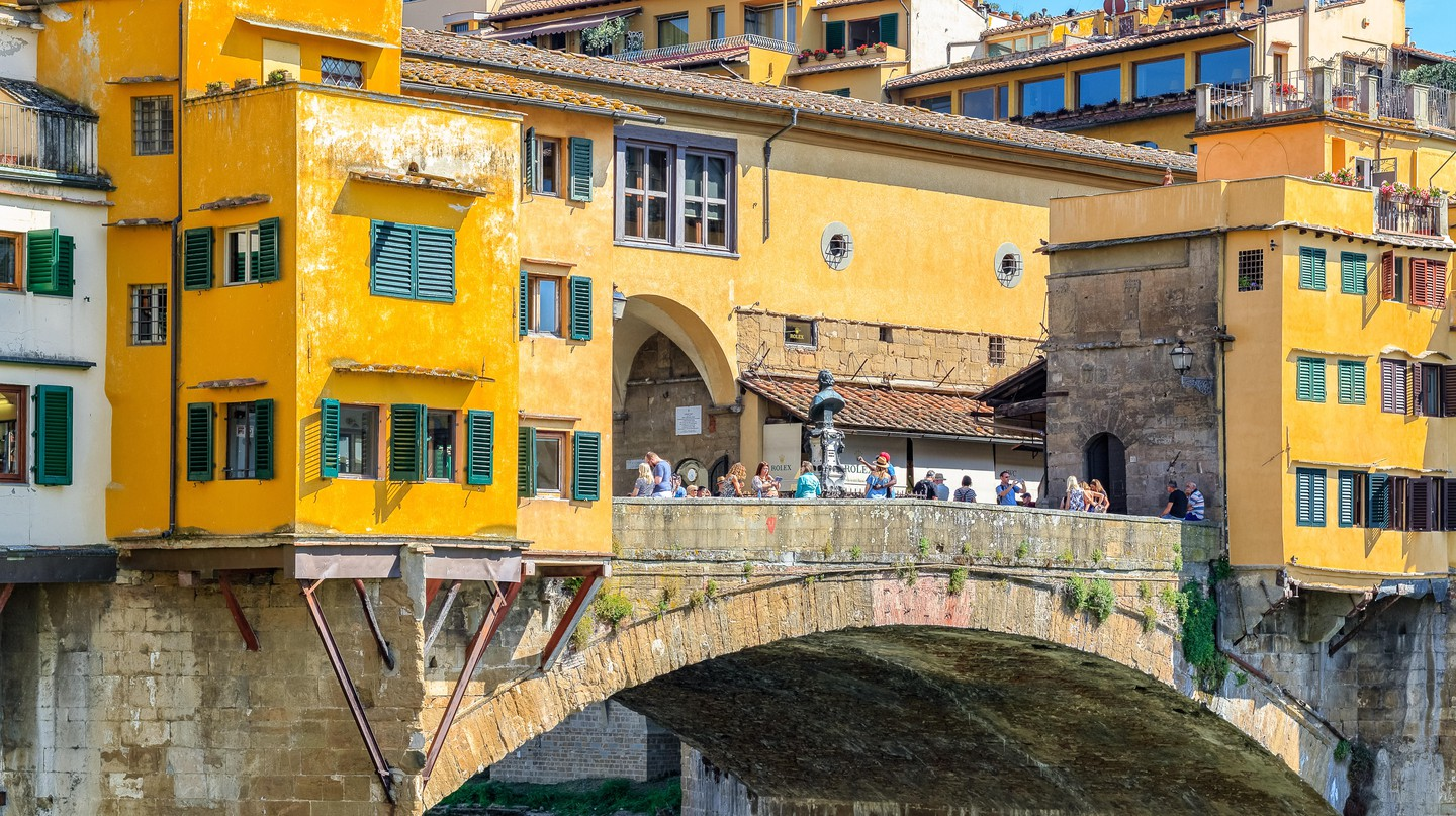 The Ponte Vecchio in Florence is popular with visitors