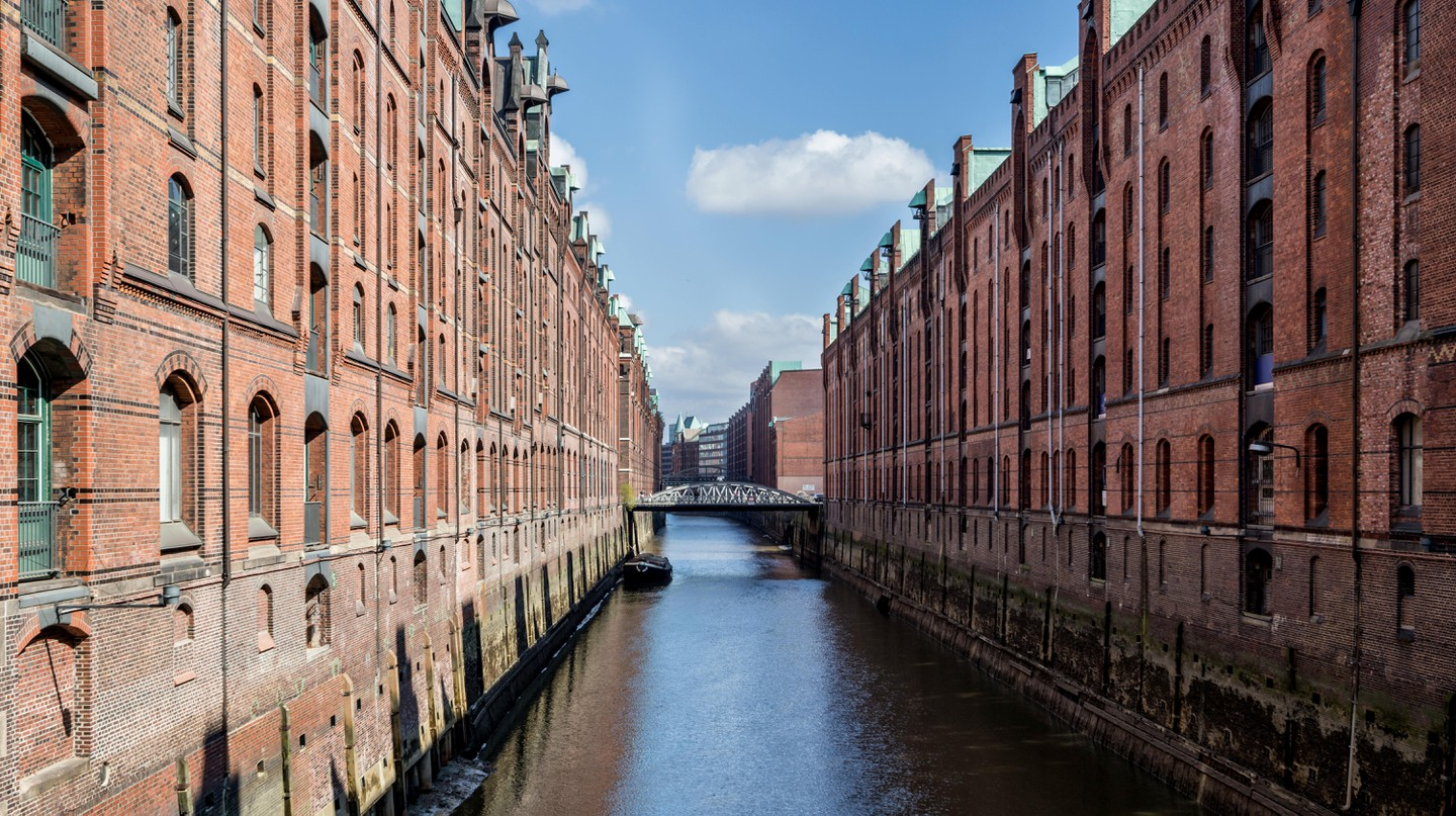 Speicherstadt in Hamburg is the largest warehouse district in the world, characterised by its timber-pile foundations
