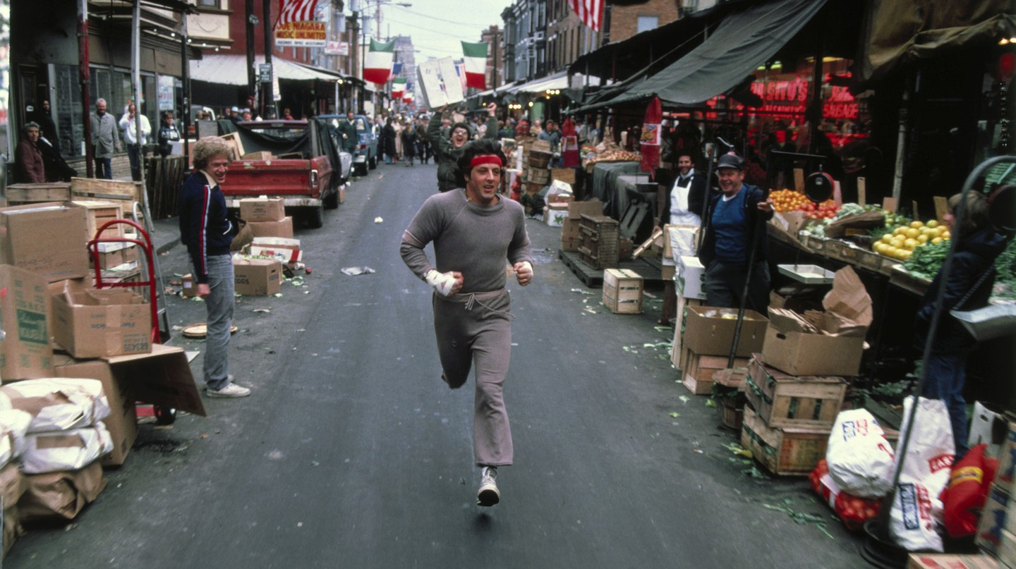 Sylvester Stallone turned the streets of Philadelphia into his personal gym