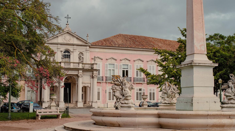 The 'Pink Palace' lies at the centre of Tapada das Necessidades in Lisbon