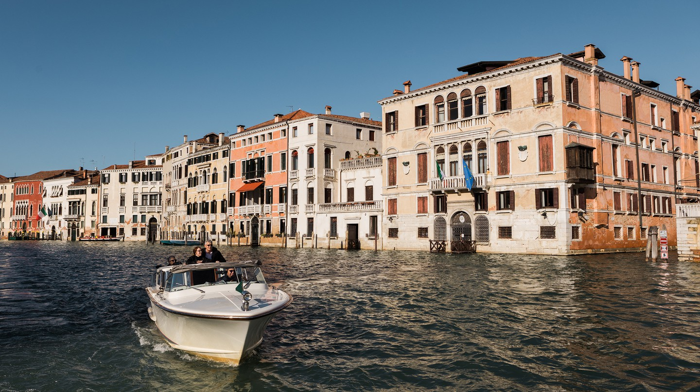 Boats are the main form of transportation in Venice