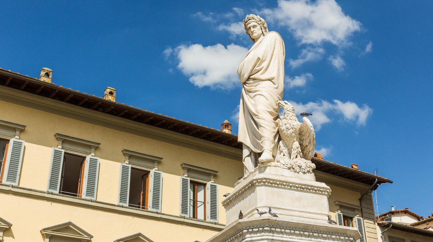 There are statues, paintings and even streets modelled after Dante Alighieri in Florence, where the poet was born and raised
