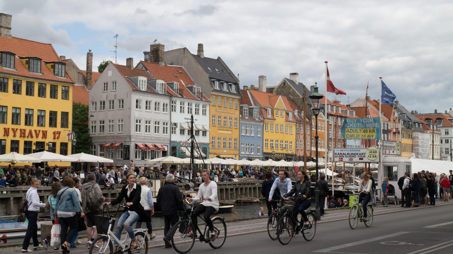 Nyhavn in Copenhagen is known for its vibrant townhouses