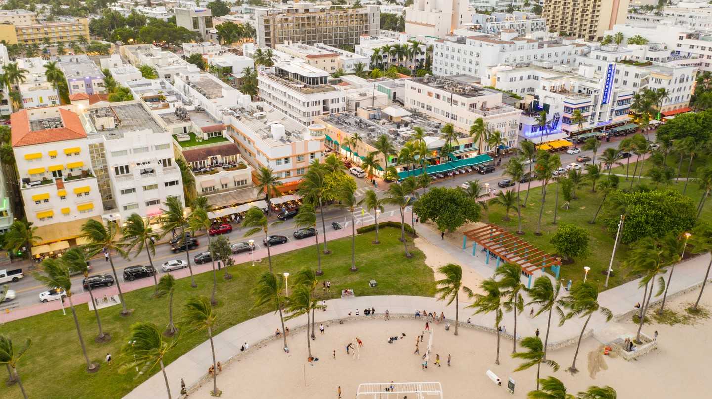 It's beach weather all year round at Lummus Park, by South Beach's Art Deco district