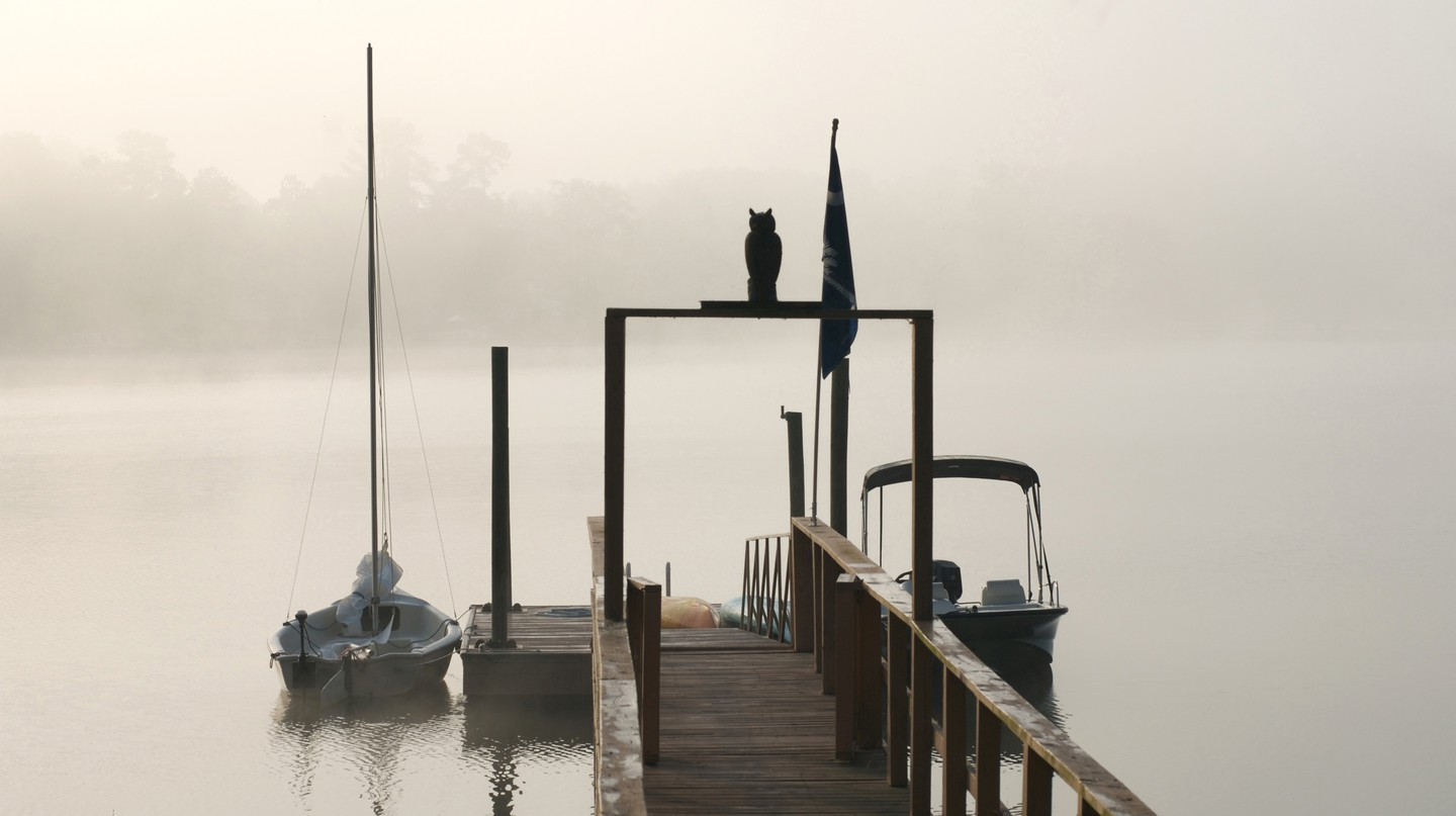 A foggy morning on Lake Murray