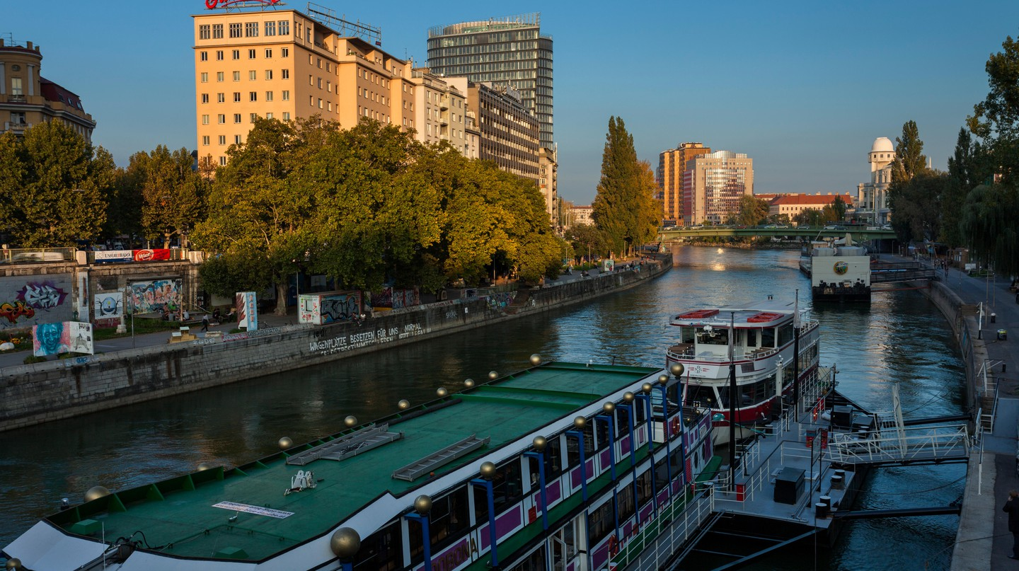 Vienna's Danube Canal is a great place to hang out in the open air