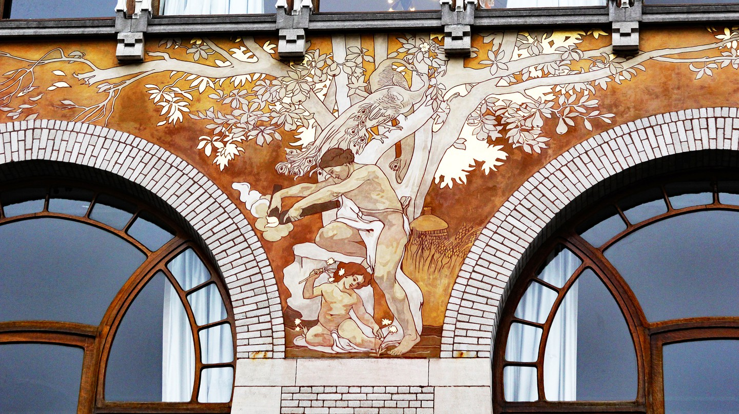 Brussels is brimming with Art Nouveau gems, such as the Ciamberlani House designed by architect Paul Hankar