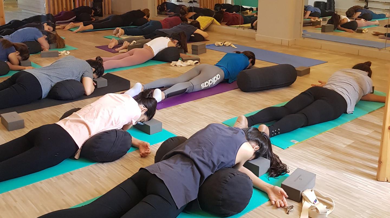 Yoga Lift offers restorative yoga classes