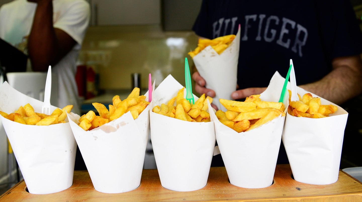 A simple snack, but a national delicacy. Fries are a staple on menus across Brussels.