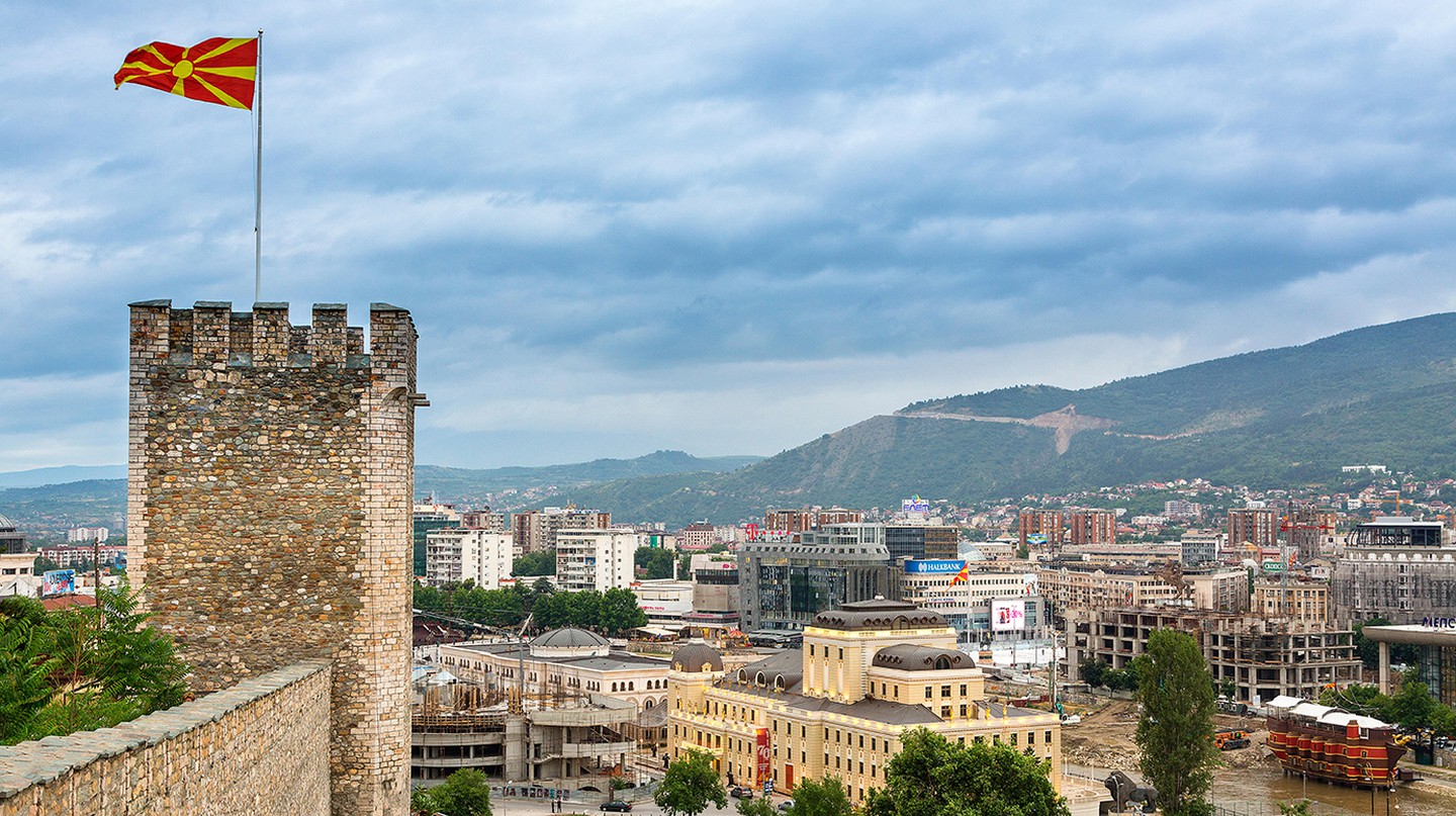 The Kale Fortress dates back from as early as the 6th century and boasts excellent views across the centre of Skopje