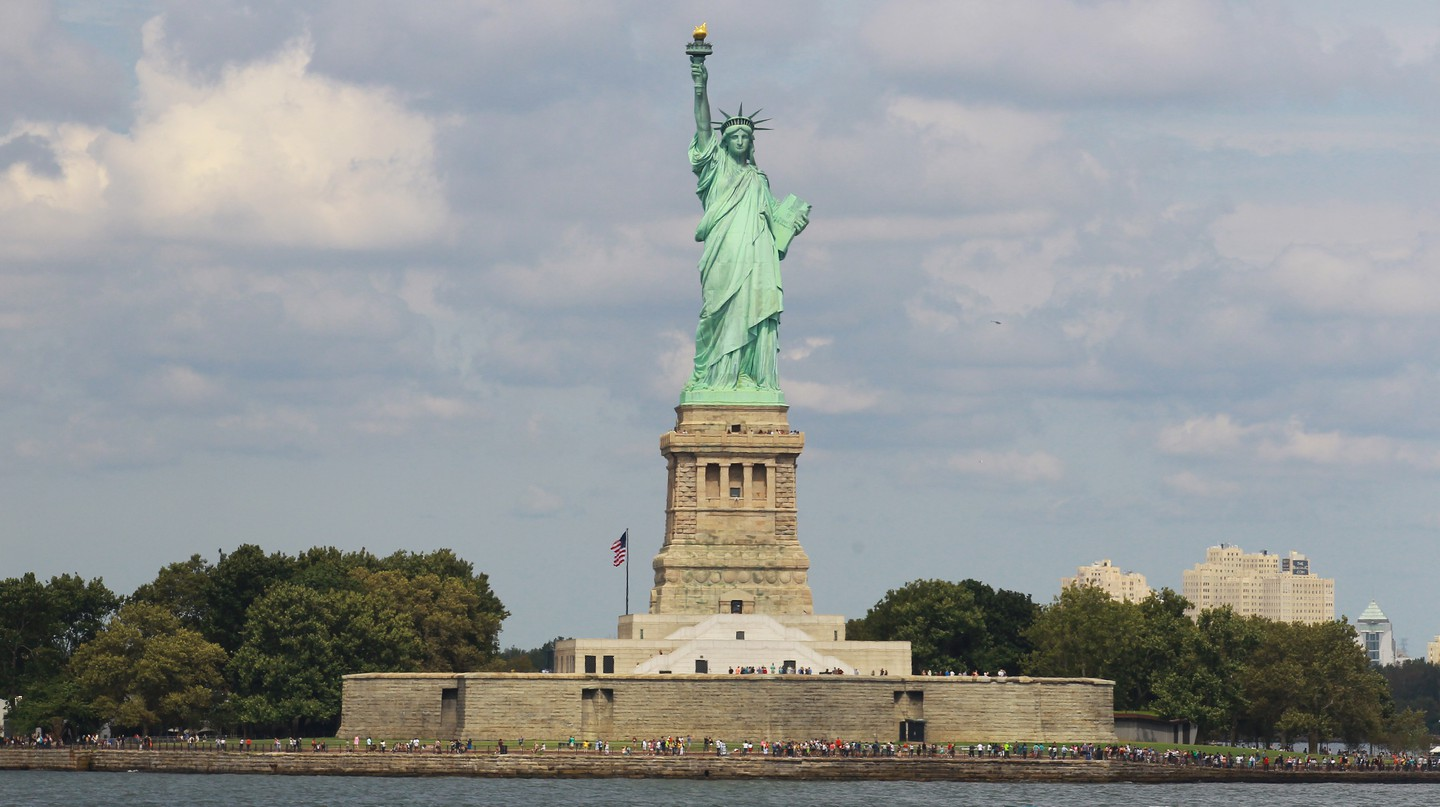 The Statue of Liberty has welcomed the world to New York Harbor since 1886