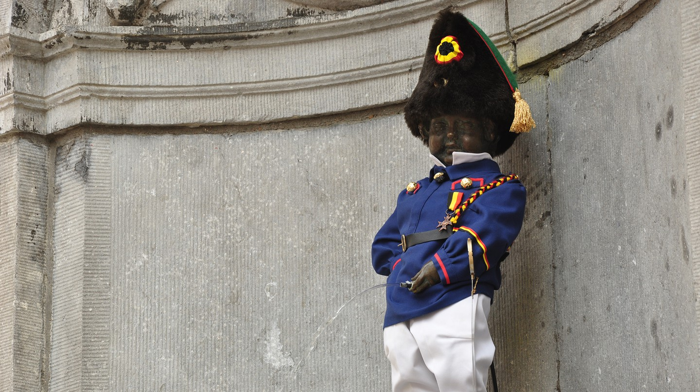 Manneken Pis is an icon of Brussels and has an official dresser to make sure he always looks his best