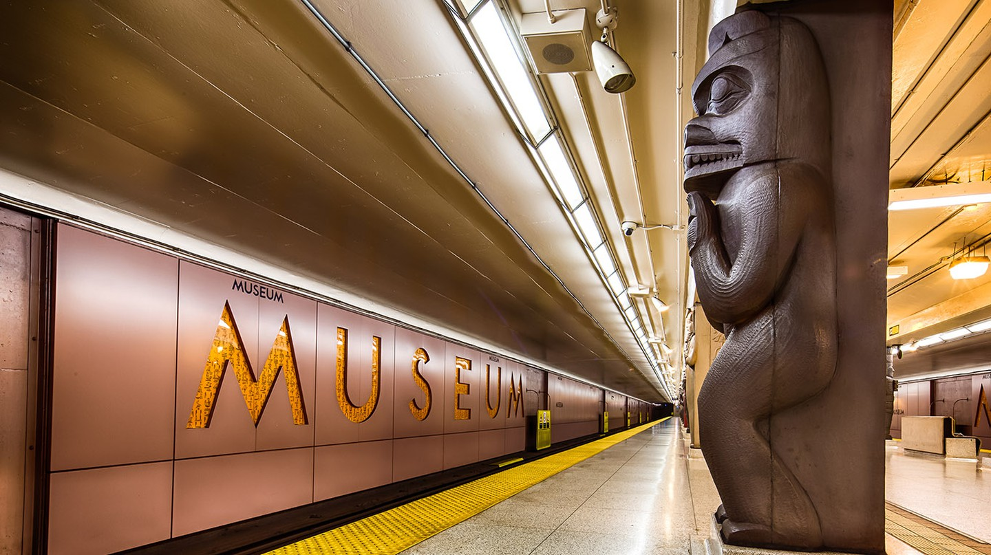 The Museum station serves the nearby architecturally stunning Royal Ontario Museum