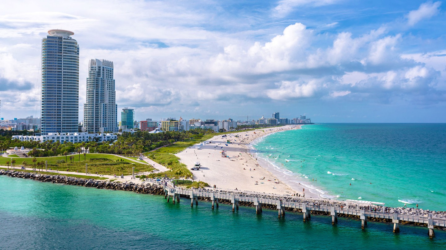 South Beach at Miami South Pointe Park is just one of the city's spectacular stretches of sand