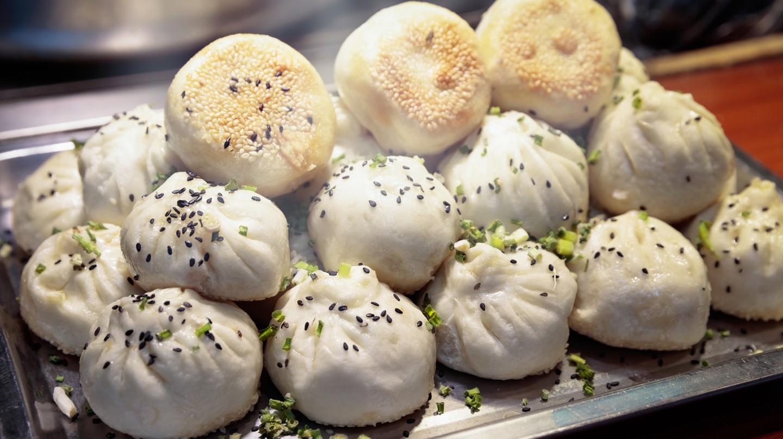 Shui jian bao dumplings, Shanghai