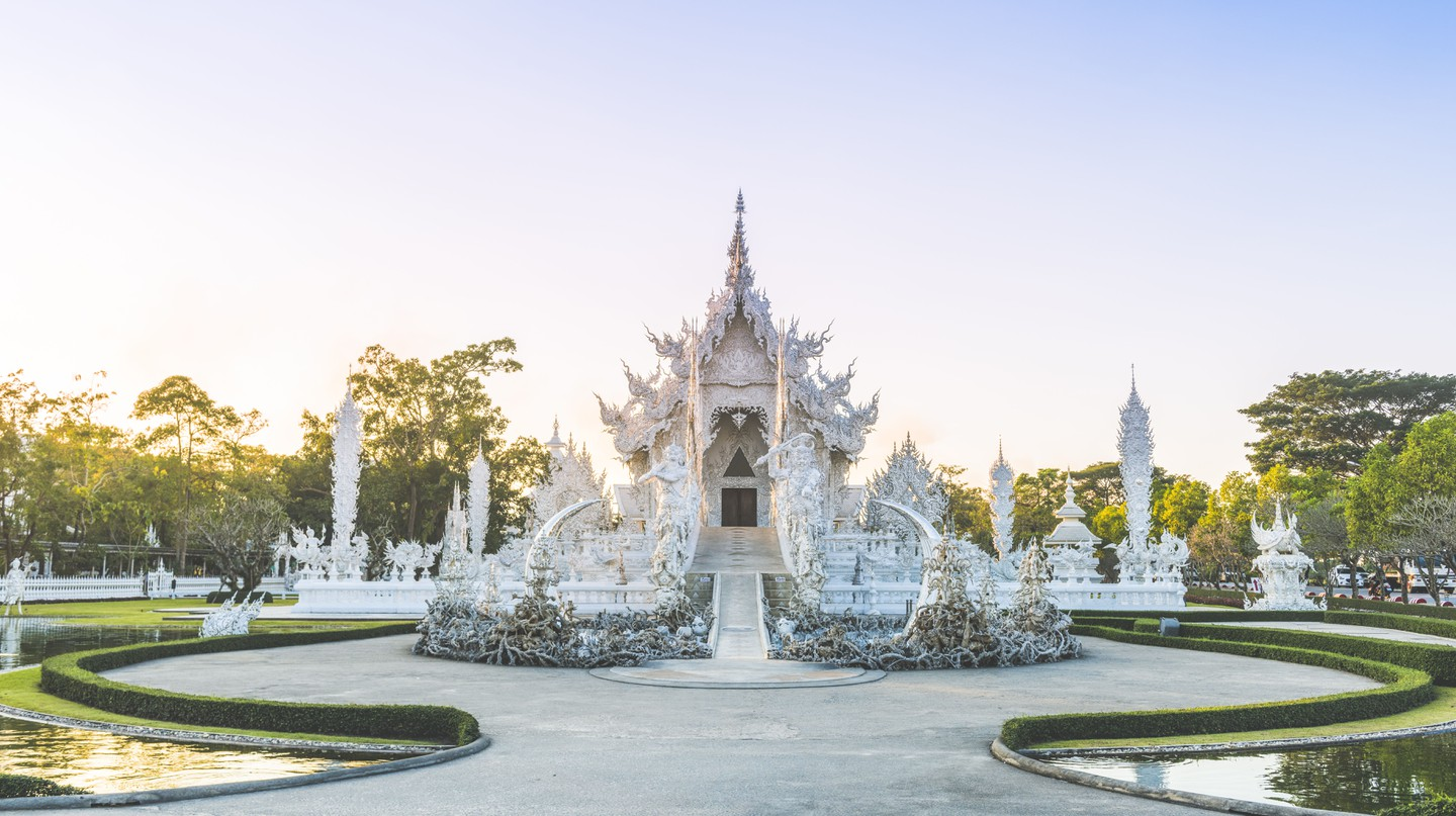 """Wat Rong Khun is also known as """"The White Temple"""""""
