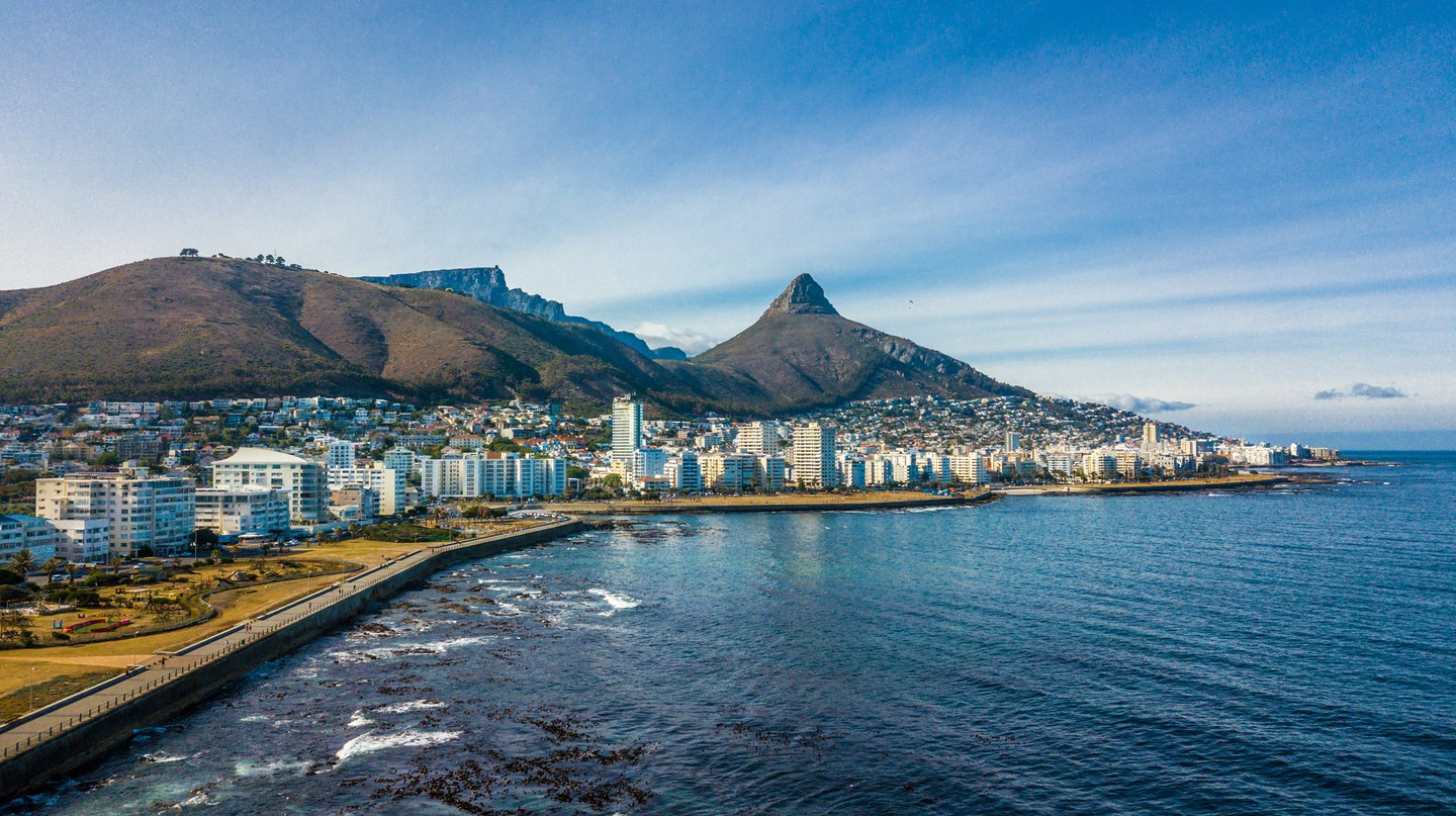 Cape Town's famous coastline offers stunning views of Signal Hill, Lion's Head and Table Mountain