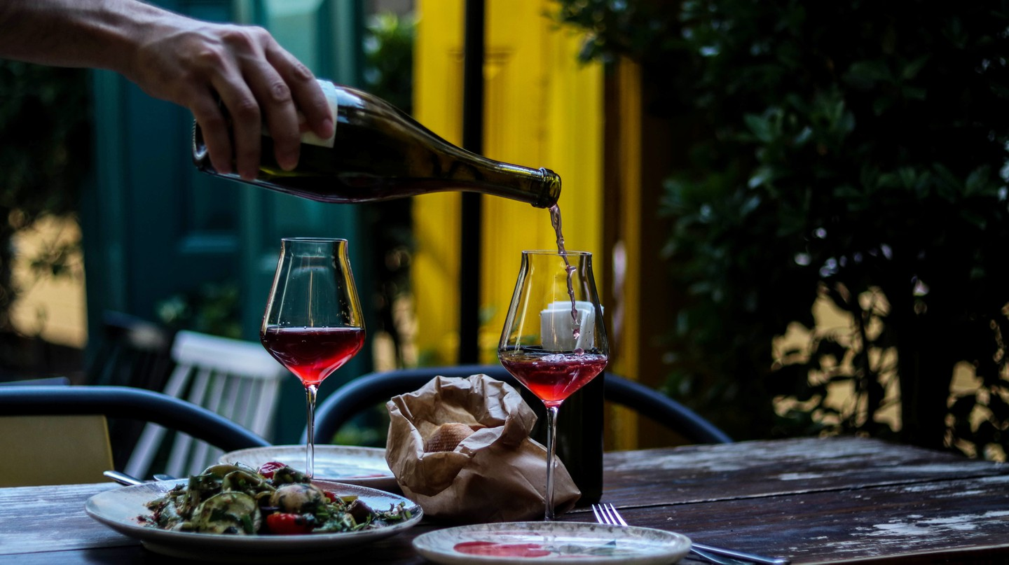 Wine bars are a relatively new trend in Georgia, the world's oldest wine-making culture