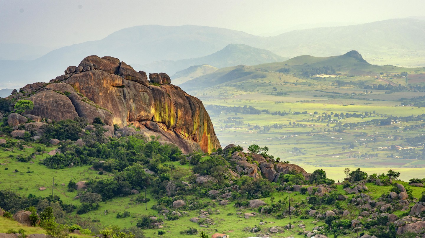 The kingdowm of eSwatini, formerly Swaziland, is home to beautiful mountains, trees and hiking trails in scenic green valleys.
