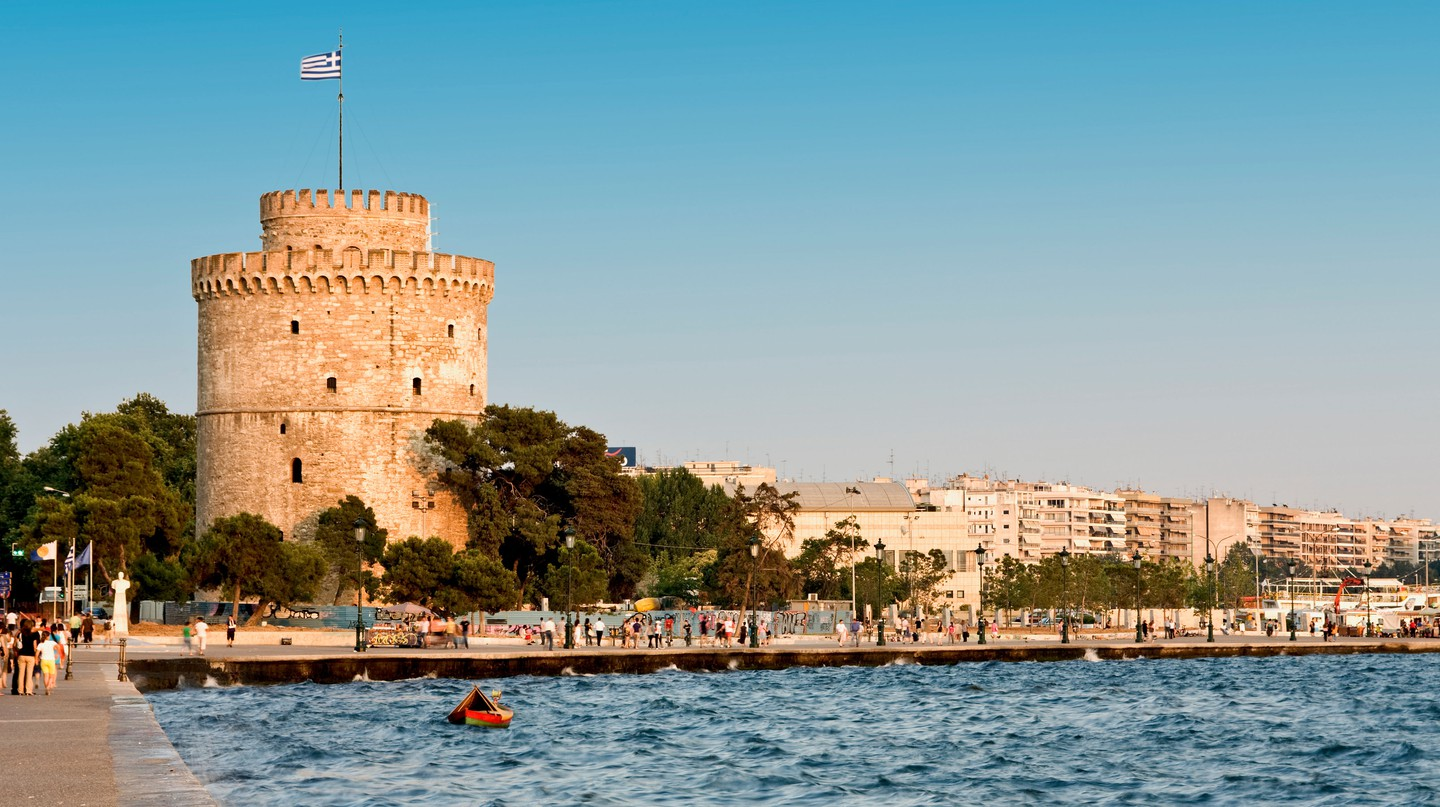 The White Tower, set on the Thessaloniki waterfront, is an emblem of Greece's second city