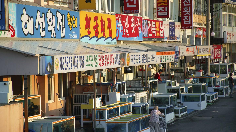 Take your pick of seafood restaurants on Jeju Island