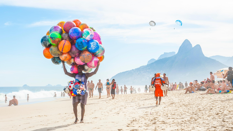 Beach vendor, Ipanema Beach, Rio de Janeiro