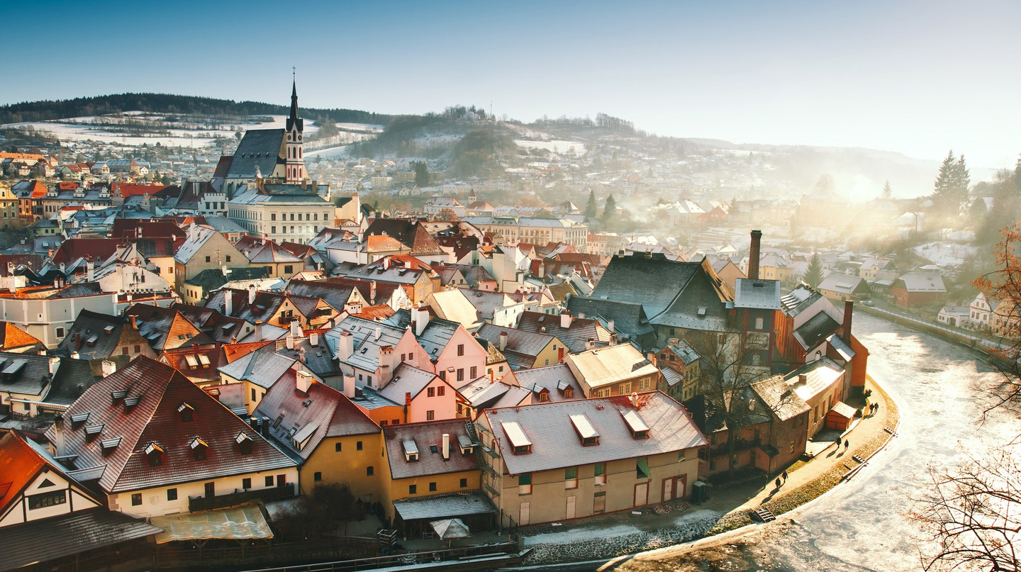 The fairytale town of Český Krumlov is especially picturesque in the winter