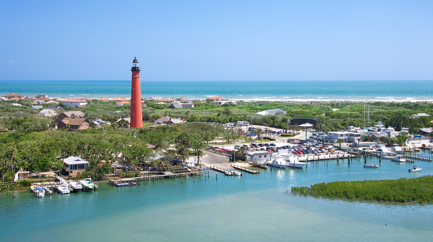 Ponce De Leon Inlet Lighthouse in New Smyrna Beach, Florida