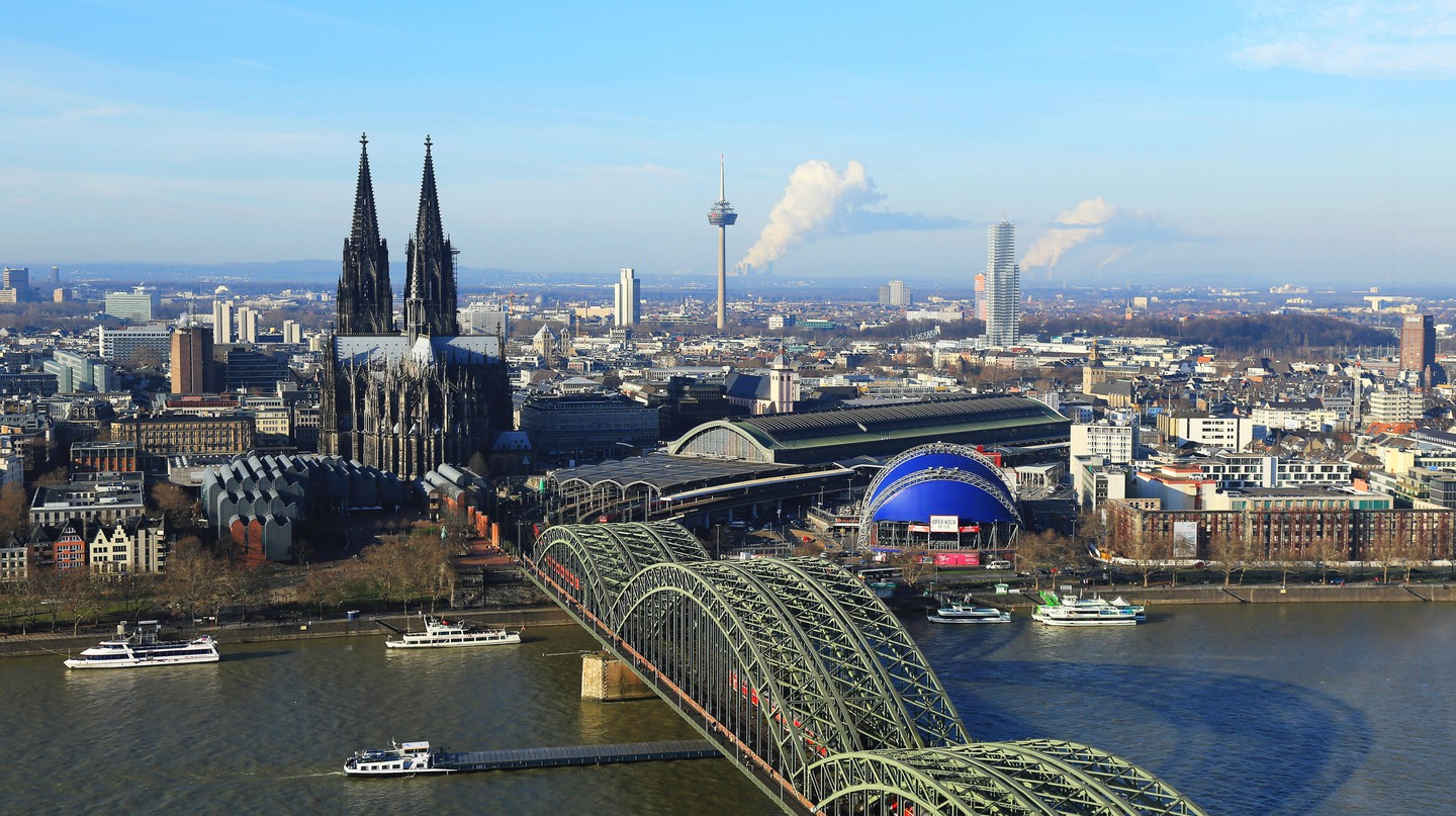 Cologne is full of fascinating architecture, including the beautiful Hohenzollern Bridge and Cologne Cathedral