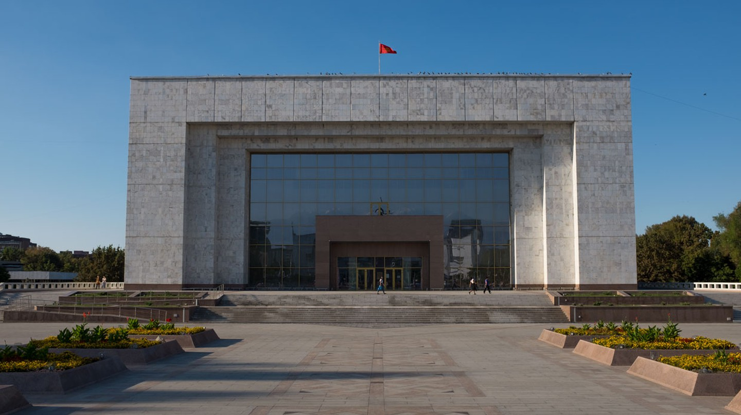 Bishkek is famed for its monumental white marble architecture