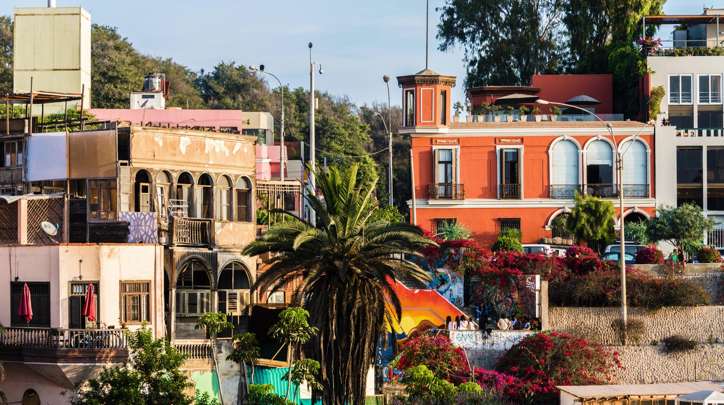 Barranco, a bohemian district with brightly colored houses and buildings, is known as Lima's creative hub