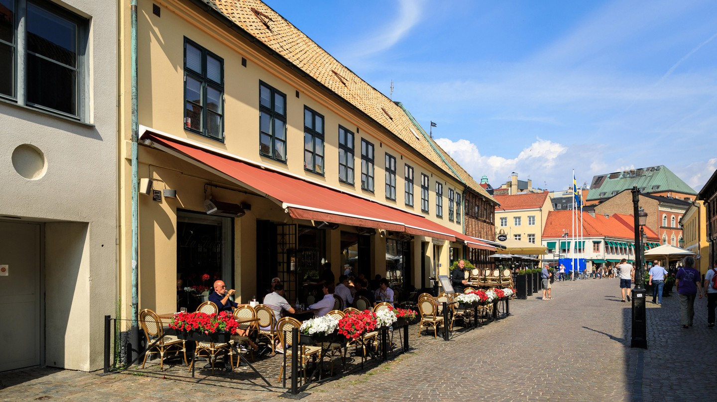 Lilla Torg in Malmö's old town is a popular summer hangout place