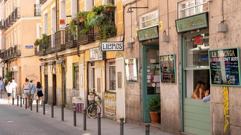 Calle del Espiritu Santo, Malasana district, Madrid