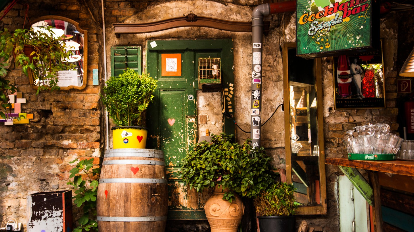 Ruin Bars began as an experiment: abandoned buildings offering affordable drinks for Budapest's young, creative crowd